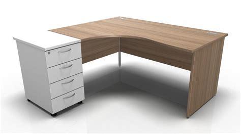 Left Hand Corner Desk High Pedestal Panel Sides Left Corner Desk