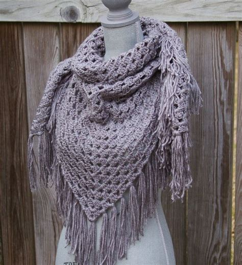 free crochet pattern triangle wrap triangle crochet scarf with fringe pattern crochet and knit