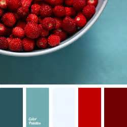 Red Color Combination by Turquoise And Red Color Palette Ideas