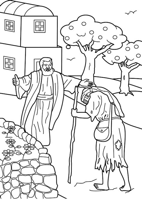 prodigal son coloring pages preschool prodigal son comes home bible coloring page prodigal son