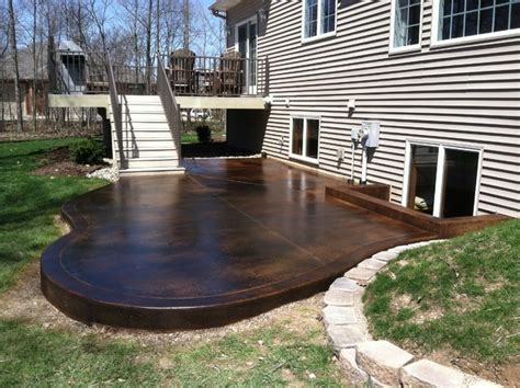 outdoor concrete projects contemporary patio indianapolis by dancer concrete design
