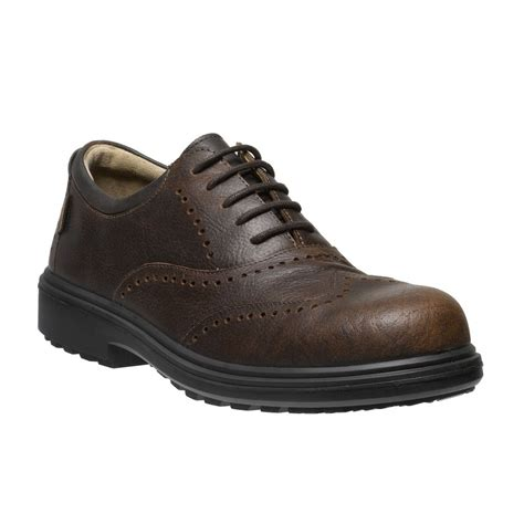 safety shoes osaka mens executive brown leather brogue metal free