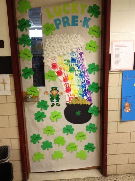 s day classroom classroom door decoration for st patricks day teaching