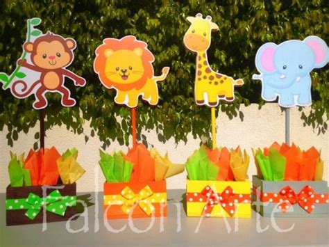 Safari Baby Shower Centerpieces by Jungle Safari Baby Shower Or Birthday Centerpieces For