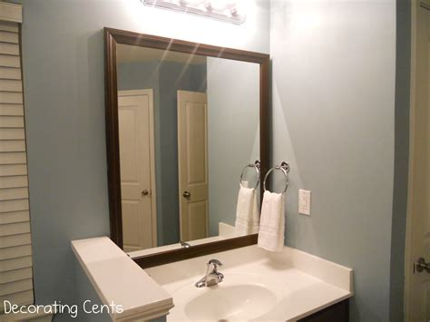 mirror with frame bathroom decorating cents framing the bathroom mirrors