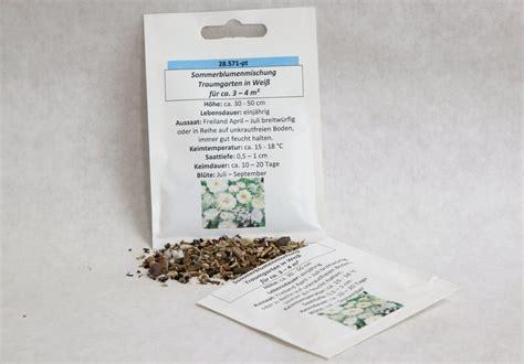 gartenartikel sale sommerblumenmischung traumgarten in wei 223 seedshop24