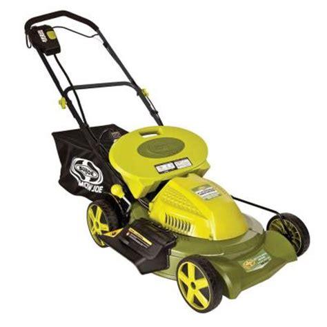 sun joe mow joe 20 in 3 in 1 cordless self propelled lawn