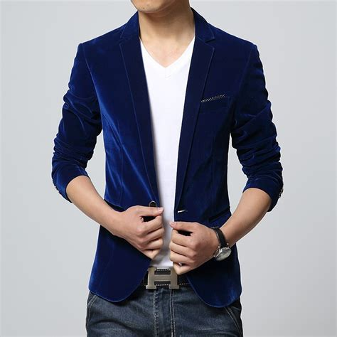 Blazer Style Navy Fit Blazer 82 mens blazer slim fit suit jacket black navy blue velvet 2015 new arrival autumn outwear
