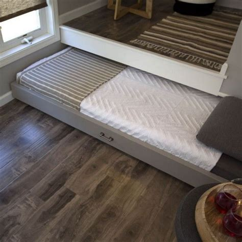 pull  bed  platform tiny house bedroom tiny