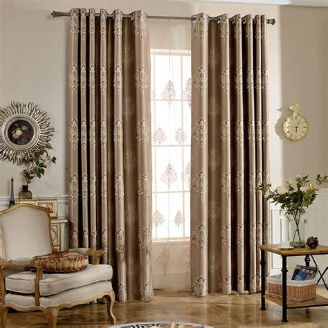 damask bedroom curtains coffee damask jacquard insulated luxury bedroom curtains