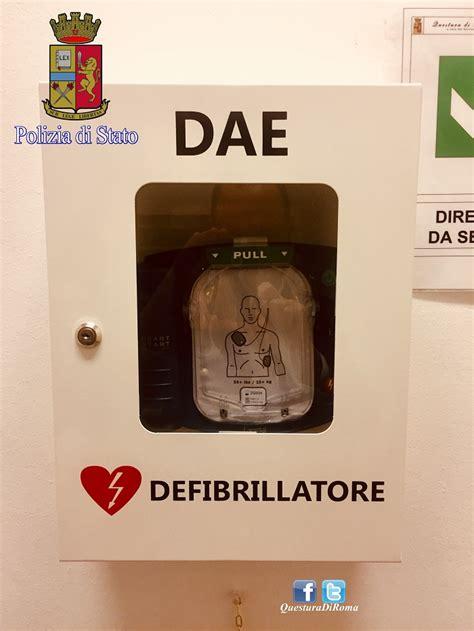 defibrillatore interno installato defibrillatore all interno commissariato di