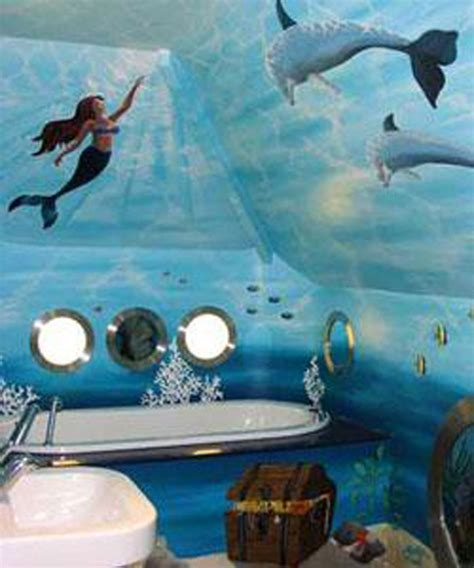 ocean theme bathroom home bathroom under water theme on pinterest ocean mural