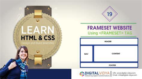 html tutorial youtube in telugu telugu tutorial html frame sets to create web site