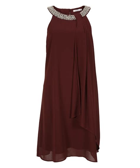 burgundy beaded dress beaded burgundy trapeze dress rickis