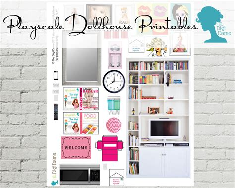 printable barbie house clearance pretend play printable playscale 1 6 by digidame