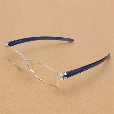 lightweight transparent rimless reading glasses