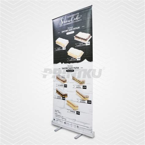 Cetak X Banner Outdoor Premium Ukuran 60x160cm Bahan Flexy roll banner 60x160cm flexi 280gsm china printku
