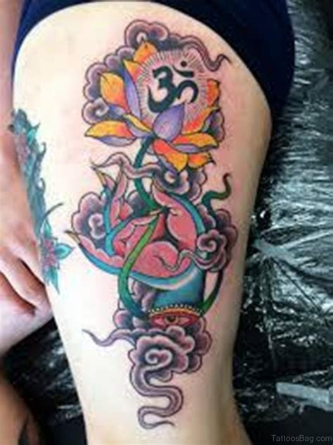 lotus flower thigh tattoo 45 best lotus flowers tattoos on thigh