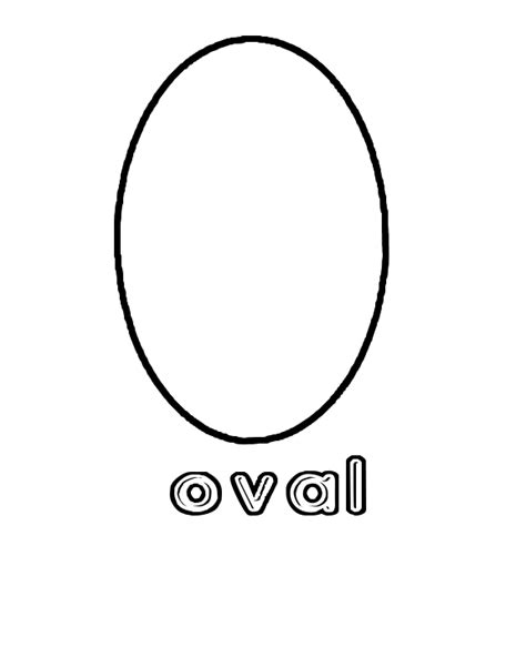 free coloring pages of shape oval