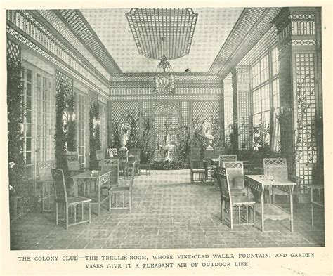 The Trellis Room digital history project colony club new york city s