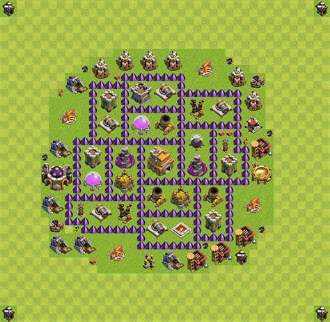 coc layout rathaus 7 die base f 252 r troph 228 en verteidigung in clash of clans