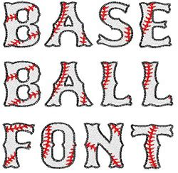 baseball pattern font home format fonts embroidery font baseball font from