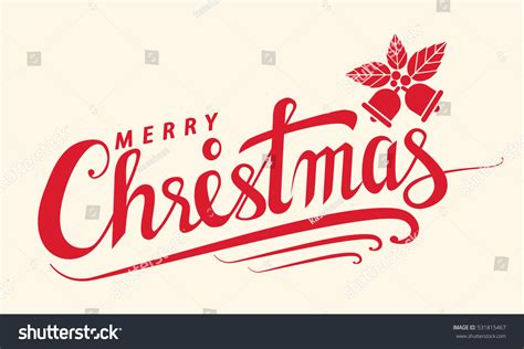 merry template merry text lettering design card stock vector