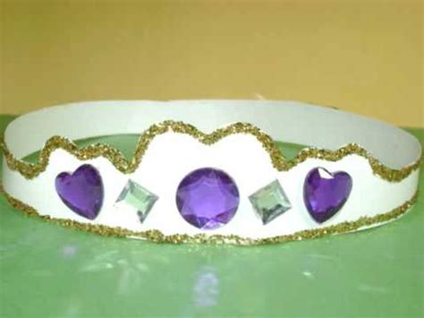 How To Make Crowns Out Of Construction Paper - how to make crown or tiara for your princess ep