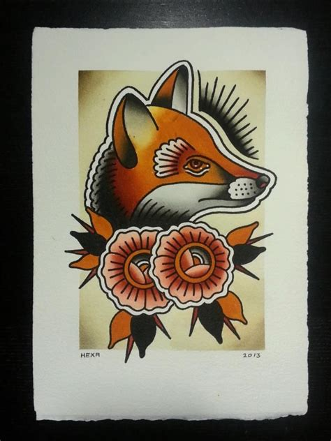 traditional fox tattoo 116 best images about mosaics on