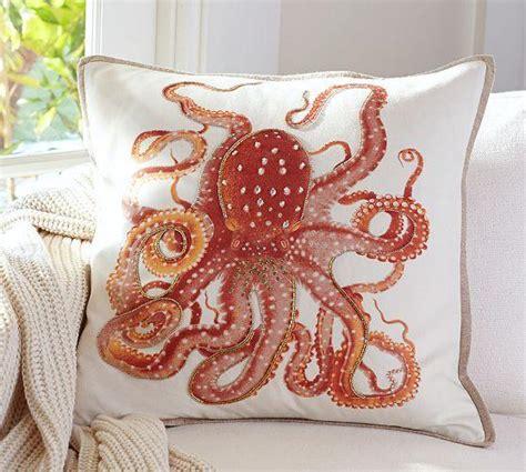 Octopus Pillows la paz jeweled orange octopus pillow covers