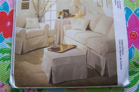 directions for making an ottoman slipcover mccall s sewing pattern 3278 how to make sofa couch chair
