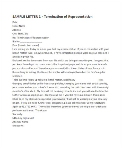 termination letter examples ms word google