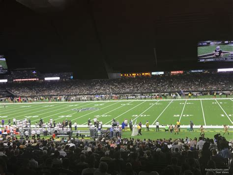 Superdome Sections by Superdome Section 113 New Orleans Saints Rateyourseats