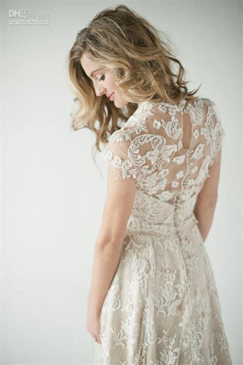 Back Lace Dress W398 2014 lace back wedding dresses a vintage inspired lace back weddingdress glamorous with