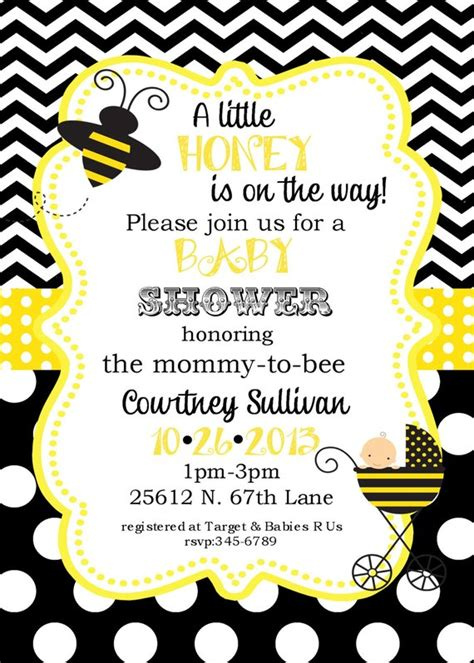 Bee Baby Shower Invitations by 12 Bumble Bee Baby Shower Invitations