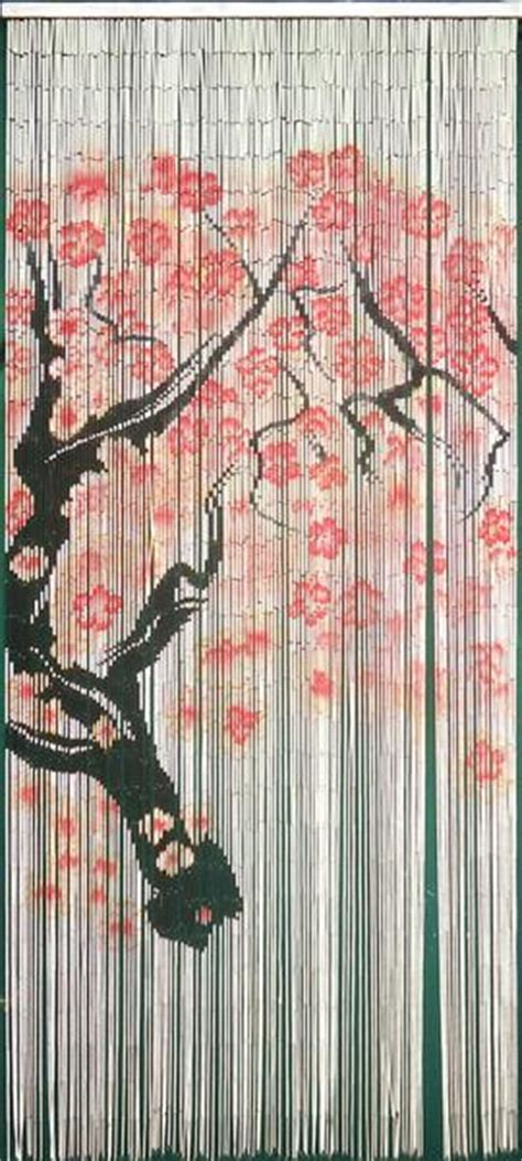 hawaiian beaded curtain 125 strands bamboo door beads cherry blossom branch
