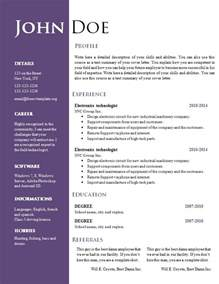 free unique resume templates for word creative microsoft word resume template