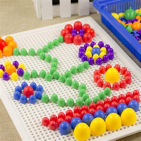 Domino Puzzle Kayu mainan puzzle jamur kreatifitas mosaik multi color