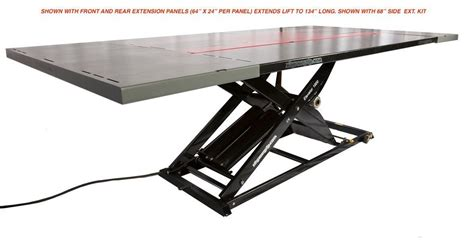 atv air lift table elevator 1800u atv utv lift table includes side extension