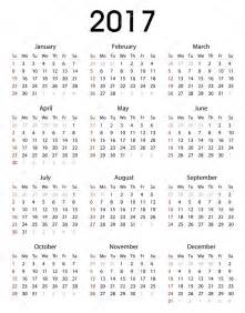 Simple Calendar Template by Simple 2017 Calendar Template For Commercial And
