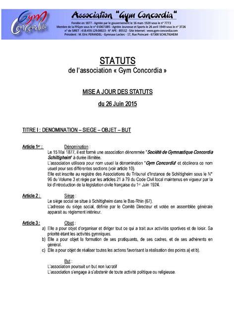 Mod Les De Lettre Pour Un Proc S Verbal association loi 1901 changement bureau changement du