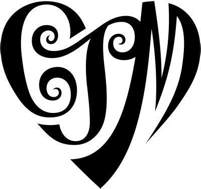 intertwined heart tattoo designs best initial designs get permanent initial