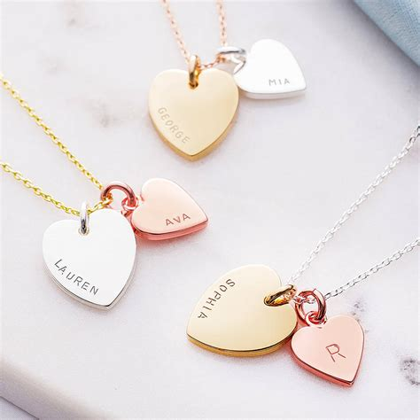 Letter Necklace Not On The High Personalised Charm Necklace By