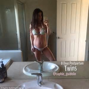 how to gain weight after c section sophie guidolin hits back at critics who ve accused her of