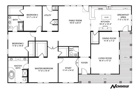 clayton homes floor plans interactive floorplan the norris nsc45723a