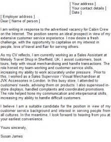 Cover Letter For Cabin Crew by Cabin Crew Cover Letter Sle