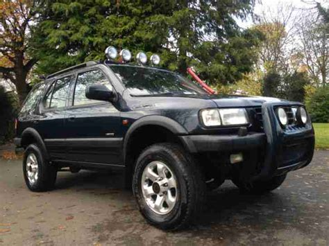 opel frontera lifted 2000 vauxhall frontera limited blue 4x4 awd roader