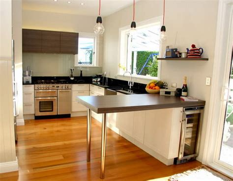 Kitchen Space Ideas by Modern Small Kitchen Design With Cherry Wood Cabinets