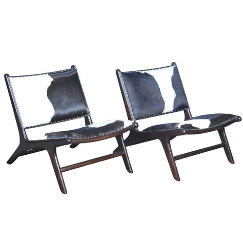 contemporary cowhide marlboro chairs pair for sale at 1stdibs