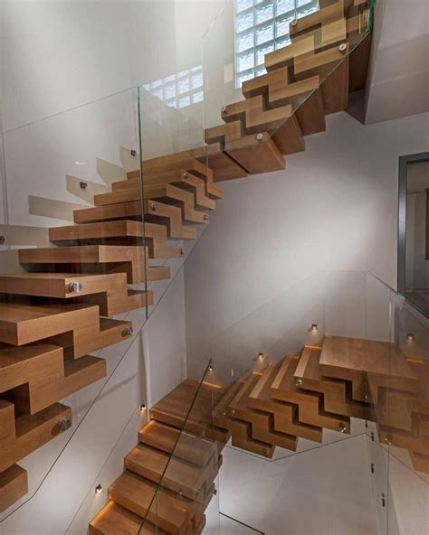 wood stairs  style images  pinterest